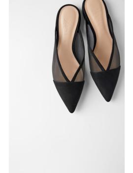 Mules Plates En RÉsille  Tout Voir Chaussures Femme by Zara