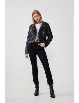 Faux Leather Jacket Jacketswoman by Zara