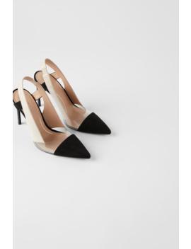 Chaussures À Talons Et Brides ArriÈre En Vinyle  Tout Voir Chaussures Femme by Zara