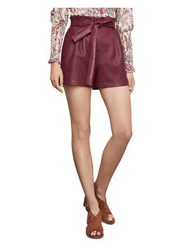 Faux Leather Paperbag Shorts by General