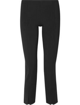 Thilde Stretch Cady Straight Leg Pants by The Row