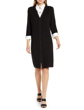 Layered Look Sweater Dress by Ming Wang