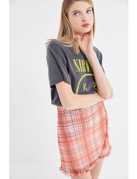 Uo Lindy Mesh Ruffle Mini Skirt by Urban Outfitters