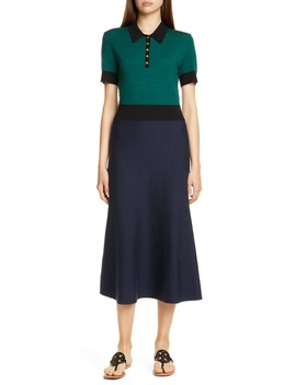 Colorblock Sweater Dress by Tory Burch