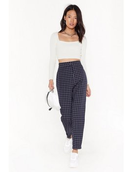 ms-mini-window-pane-check-tapered-pants by nasty-gal