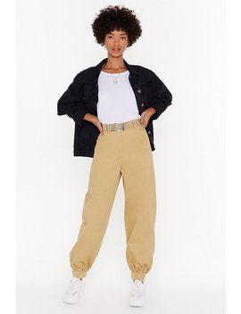 Come Say High Waisted Utility Pants by Nasty Gal