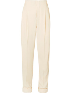 Pleated Cotton Blend Pants by Haider Ackermann