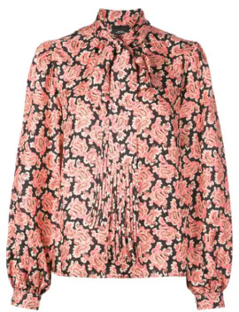 Bow Tie Detail Paisley Blouse by Marc Jacobs