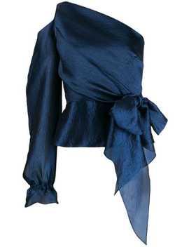 Asymmetric Single Sleeve Blouse by Roland Mouret