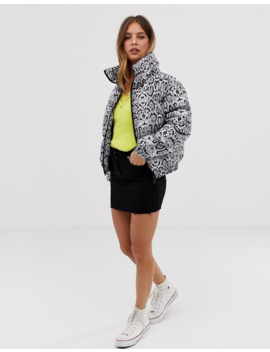 brave-soul-padded-jacket-in-snake-print by jacket