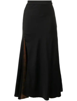 Side Slit A Line Skirt by Ellery