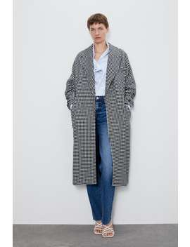 Houndstooth Coat Coatswoman by Zara