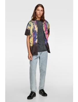 Tie Dye Print Shirt View All Knitwear Man by Zara