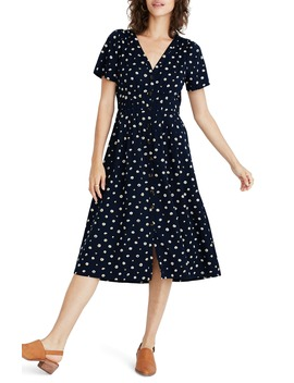 Daylily Midi Dress In Daisy Dots by Madewell