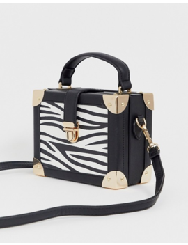 Asos Design Vanity Boxy Bag In Zebra With Detachable Cross Body Strap by Asos Design