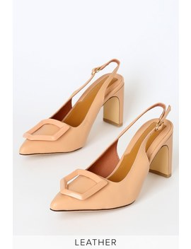 Ornament Amberlight Leather Slingback Heels by Jaggar