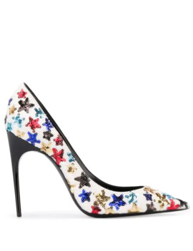 Edwige Embroidered Pumps by Saint Laurent
