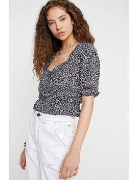 Uo Rhonda Floral Blouse by Urban Outfitters