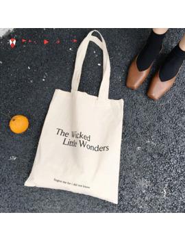 2018 New Fashion Women Shopping Bags Cotton Fabric Letter Fashion Women No Zipper Hight Simple Design Healthy Tote Hand Bag by Ali Express.Com
