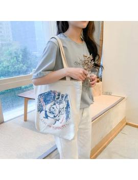 2019 New Super Hot Lady Shopping Canvas Bag Japanese Students Single Shoulder Bag Environmental Portable Shopping Bag Tide by Ali Express.Com