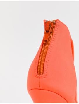 Public Desire Aurora Neon Orange Twist Detail Heeled Sandals by Public Desire