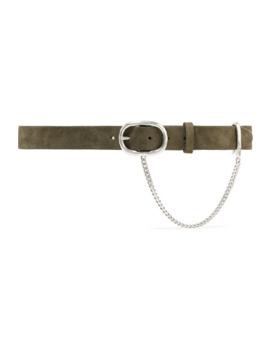 Wingman Chain Embellished Suede Belt by Rag & Bone