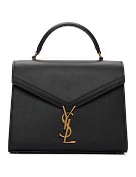 Black Medium Cassandra Top Handle Bag by Saint Laurent