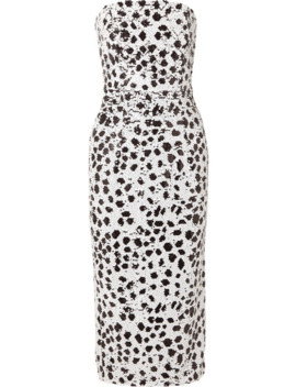 Strapless Sequined Crepe Dress by 16 Arlington