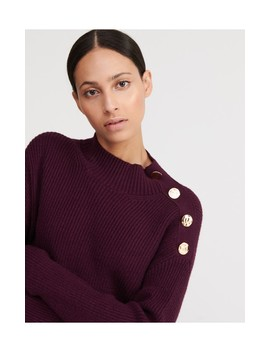 Sweater With Decorative Buttons by Reserved
