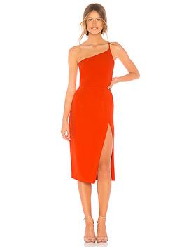 Lazo Midi Dress In Blood Orange by Lovers + Friends