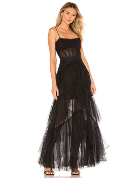 Corset Tulle Gown In Black by Bcbgmaxazria