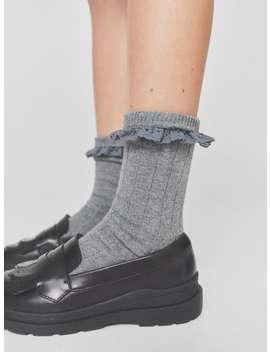 Long Lace Trim Socks New Ingirl by Zara