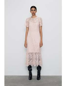 Frilled Lace Dress New Inwoman by Zara