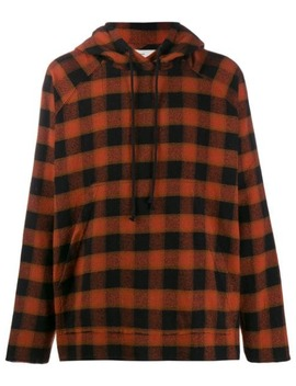 Plaid Drawstring Hoodie by Song For The Mute