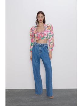 Cuerpo Cropped Estampado Floral Ver Todo Camisas by Zara