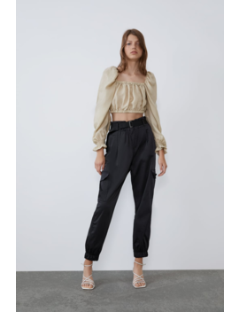 Top Cropped Volumen Ver Todo Camisas by Zara