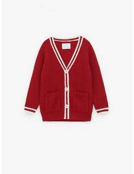 Varsity Knit Cardigan New Ingirl by Zara
