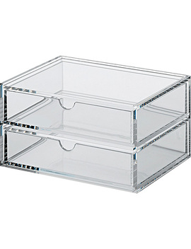 Acrylic Case W/Drawer 2 Rows Clear by Muji