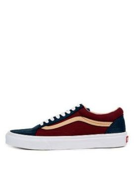 The Old School Textured Suede In Sailor Blue by Vans