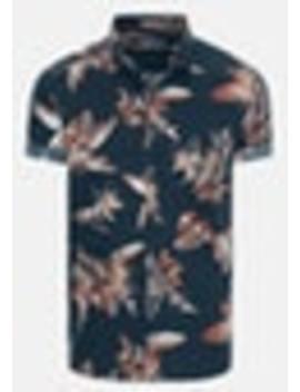 Navy Columbus Slim Shirt by Connor