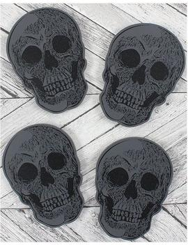 Skull | Coasters Set Of 4 by Gothic Gifts