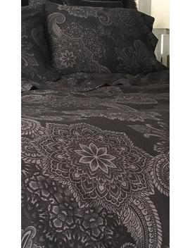 Midnight Ink | Double/Queen Duvet Cover by Sin In Linen