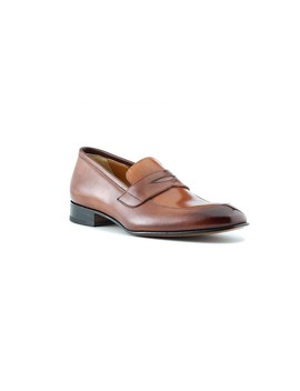 Andre Penny Loafer In Brown & Cuoio by Ace Marks