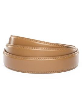"1.25"" Light Brown Leather Strap by Anson Belt & Buckle"