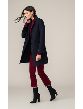 Ezme Straight Fit Double Face Wool Coat by Soia & Kyo