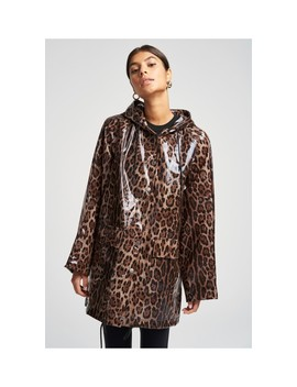 Clear Leopard Raincoat by Pam & Gela