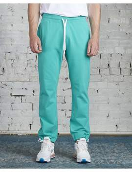 Reigning Champ X District Vision Lightweight Terry Pant Teal by Less 17