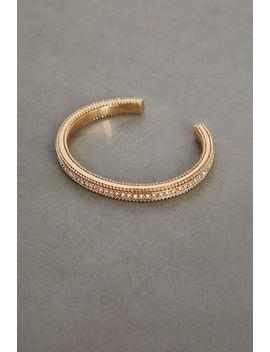 Pave Textured Cuff Bracelet by Bcbgeneration