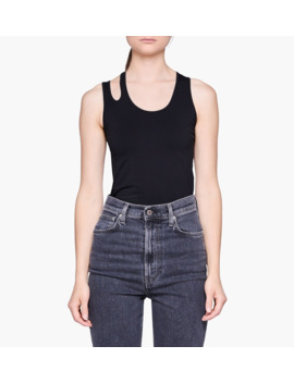 Slashed Seamless Tank Top by Helmut Lang
