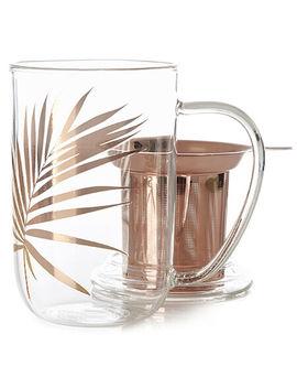 Rose Gold Leaf Glass Nordic Mug by Davi Ds Tea